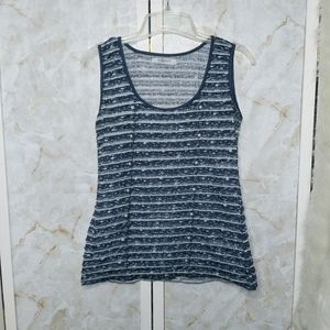 Romy Layered Tank Top Medium Blue